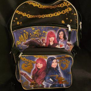 NWOT Disney Descendants Backpack & Lunchbox